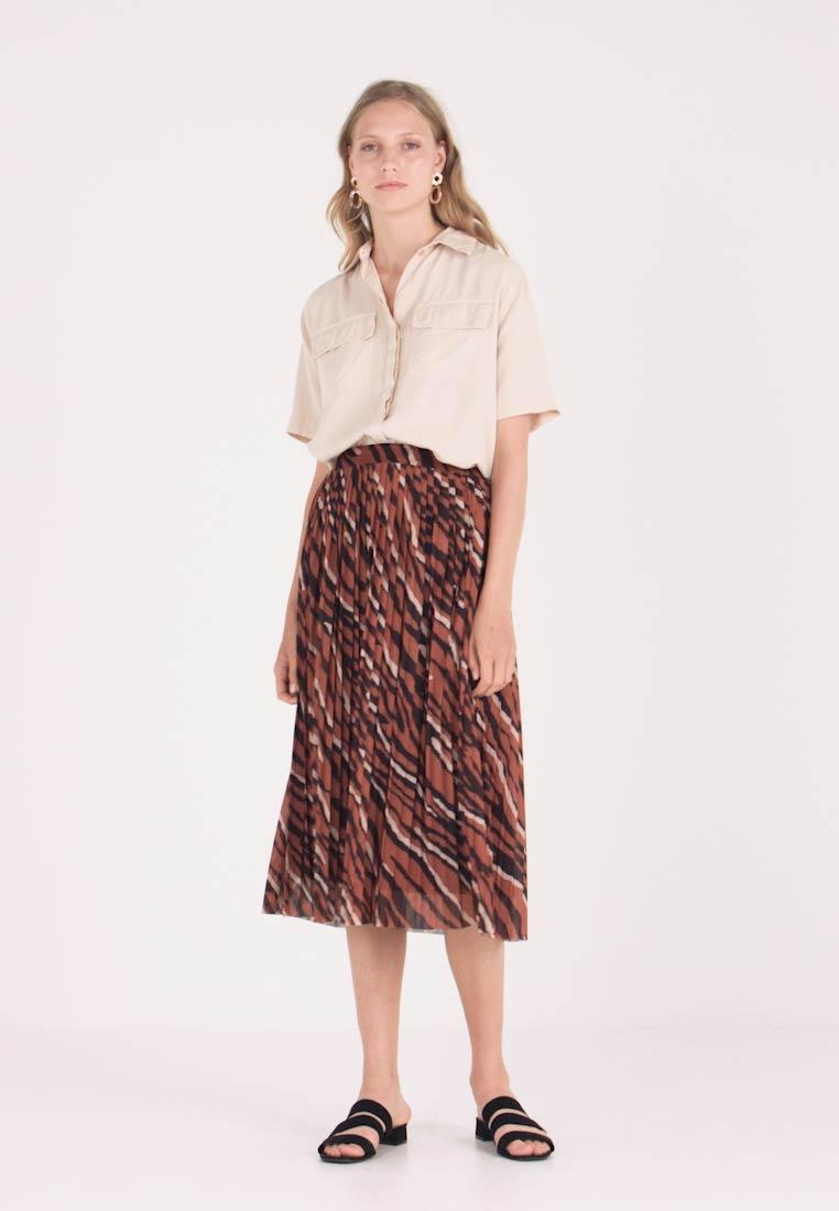 one more story - SKIRT - A-Linien-Rock - coffee caramel - 1