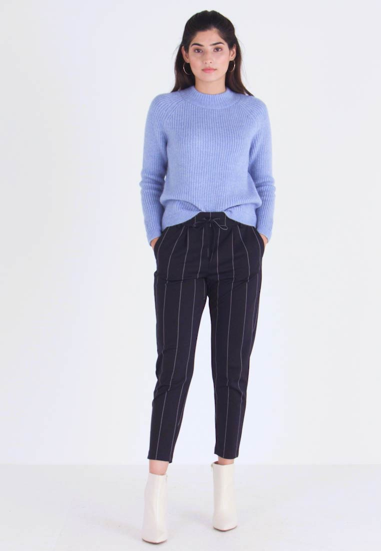 ONLY Petite - ONLPOPTRASH TEMPO STRIPE PANT - Trousers - night sky - 1