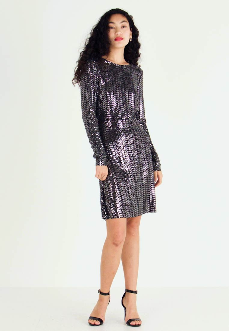 PIECES Tall - Kjole - black/silver - 1