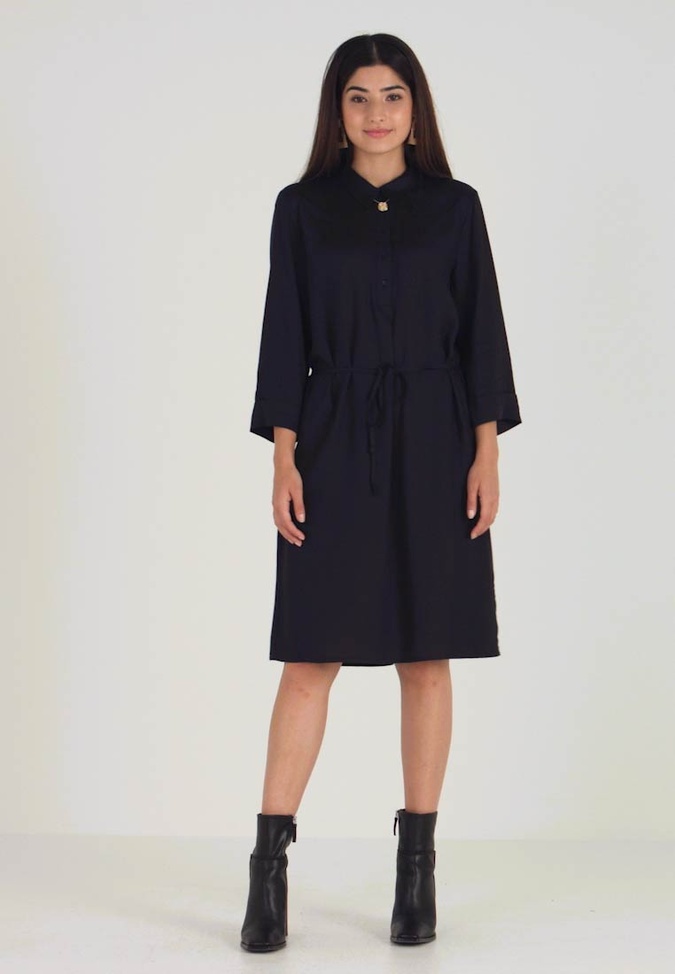 Re.draft - BLOUSE DRESS - Vestido camisero - dark navy - 1