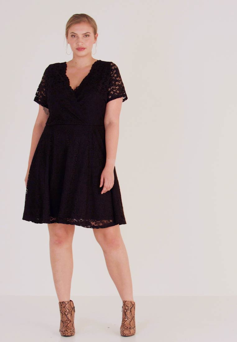 Simply Be - SKATER - Cocktail dress / Party dress - black - 1