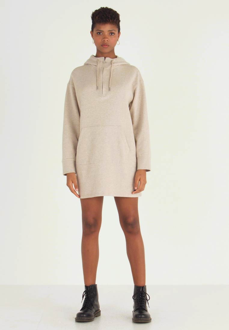 Superdry - ZIP FRONT DRESS - Vapaa-ajan mekko - soft camel - 1