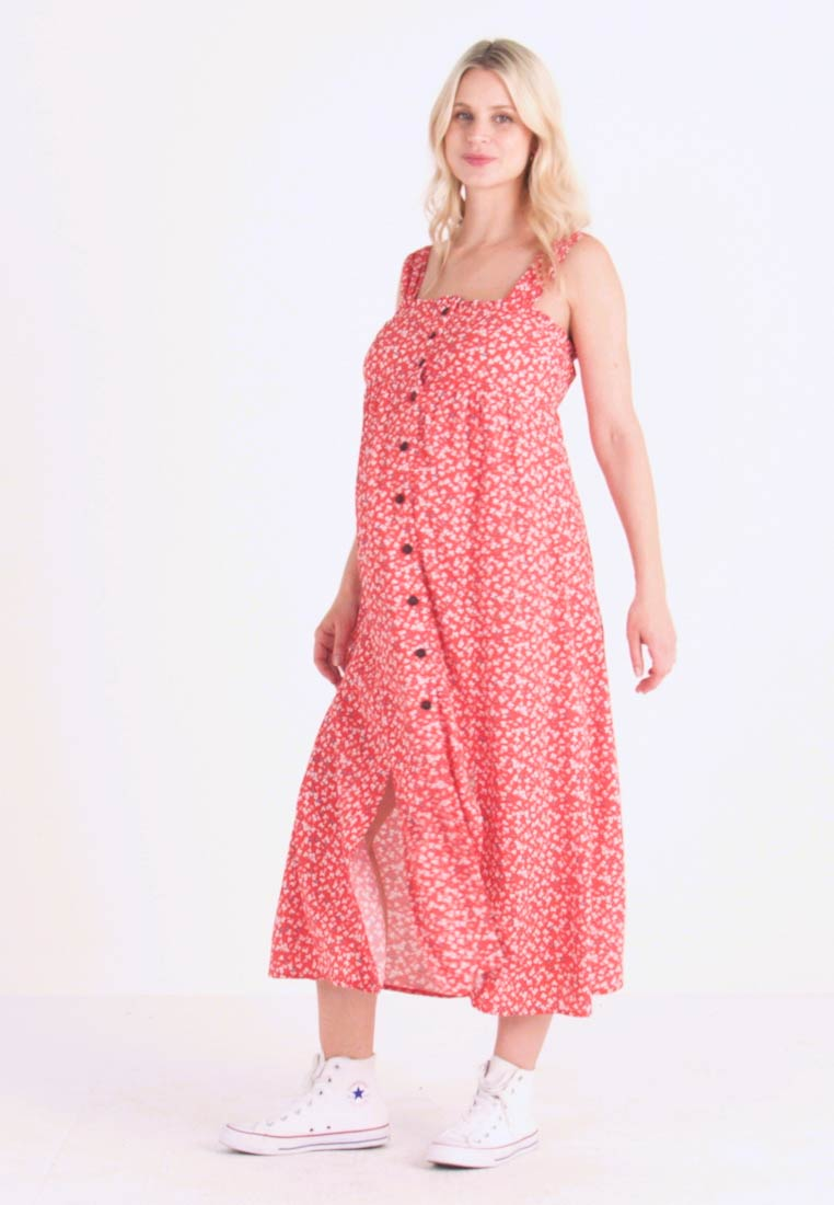 Topshop Maternity - SPLIT FRONT - Day dress - red - 1