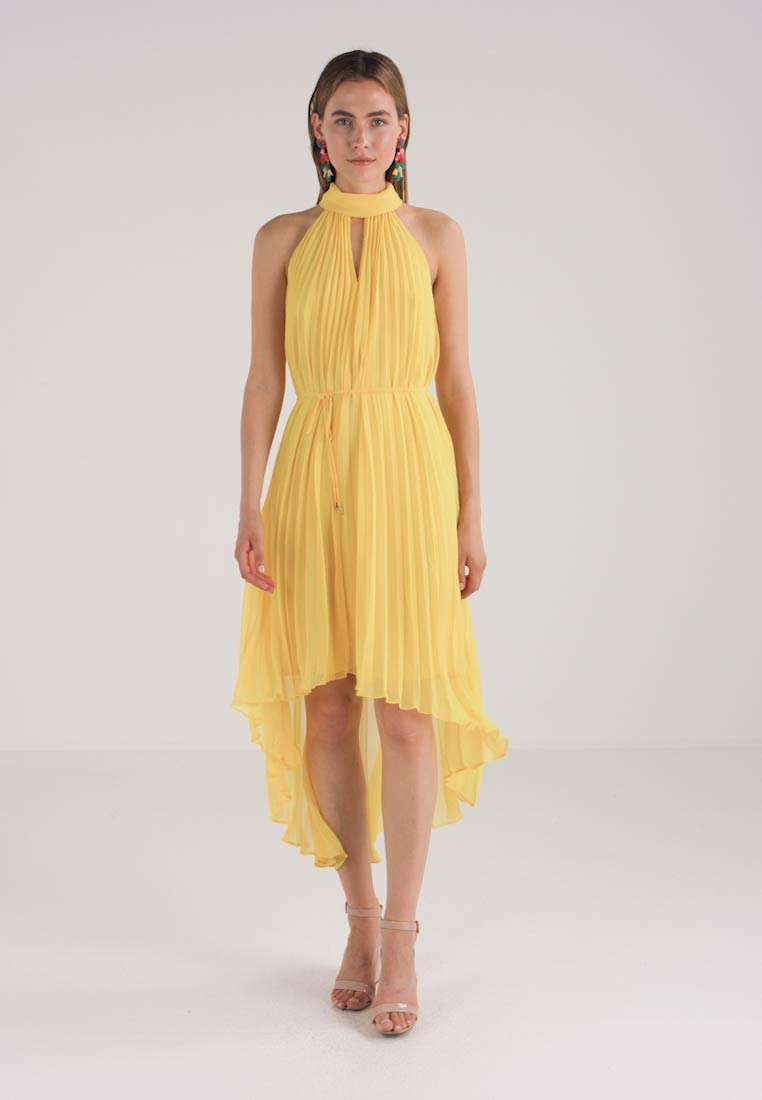 Ted Baker - NADETTE PLEATED COLLARED DRESS - Maxikjoler - yellow - 1