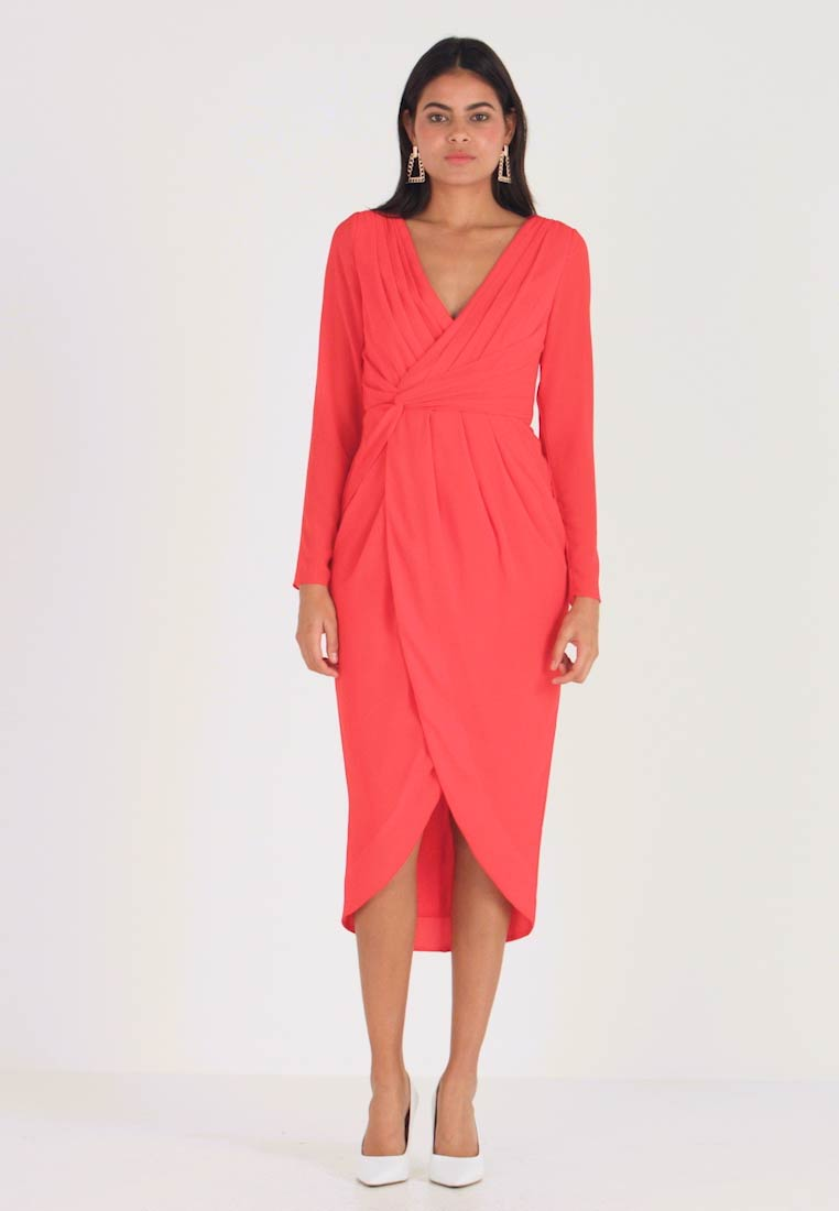 TFNC - GWENNO MIDI WRAP DRESS - Cocktailjurk - bright red - 1