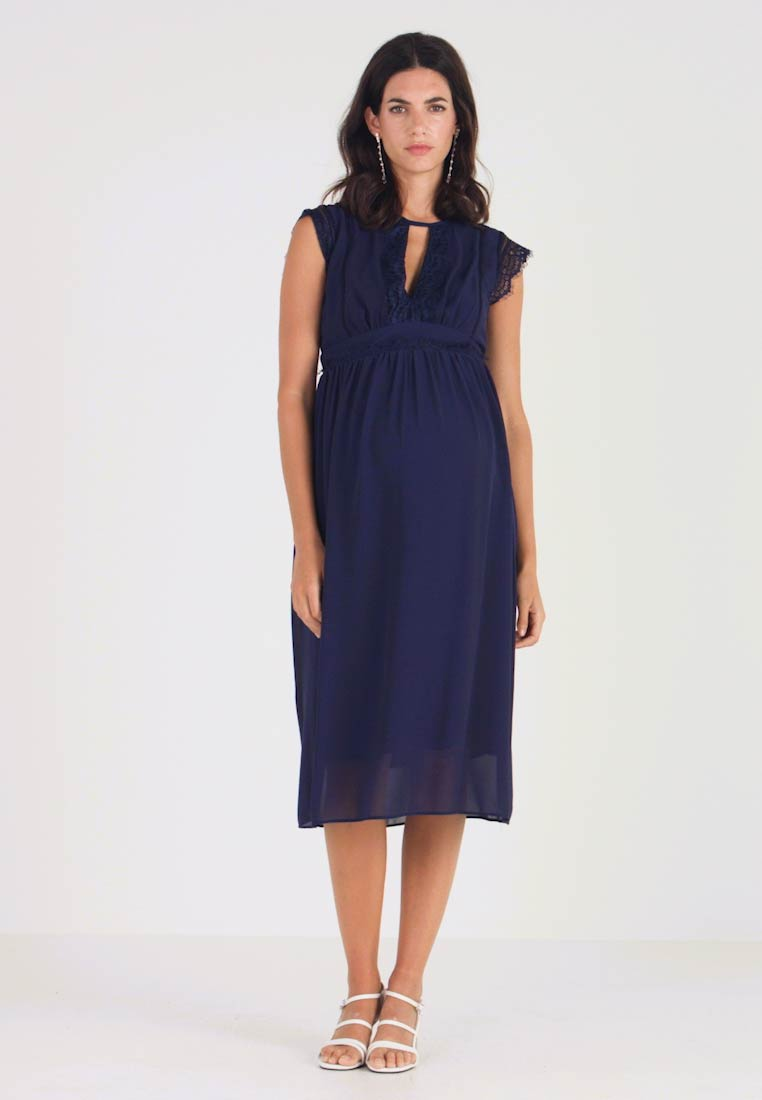TFNC Maternity - EXCLUSIVE FINLEY MIDI DRESS - Sukienka koktajlowa - navy - 1