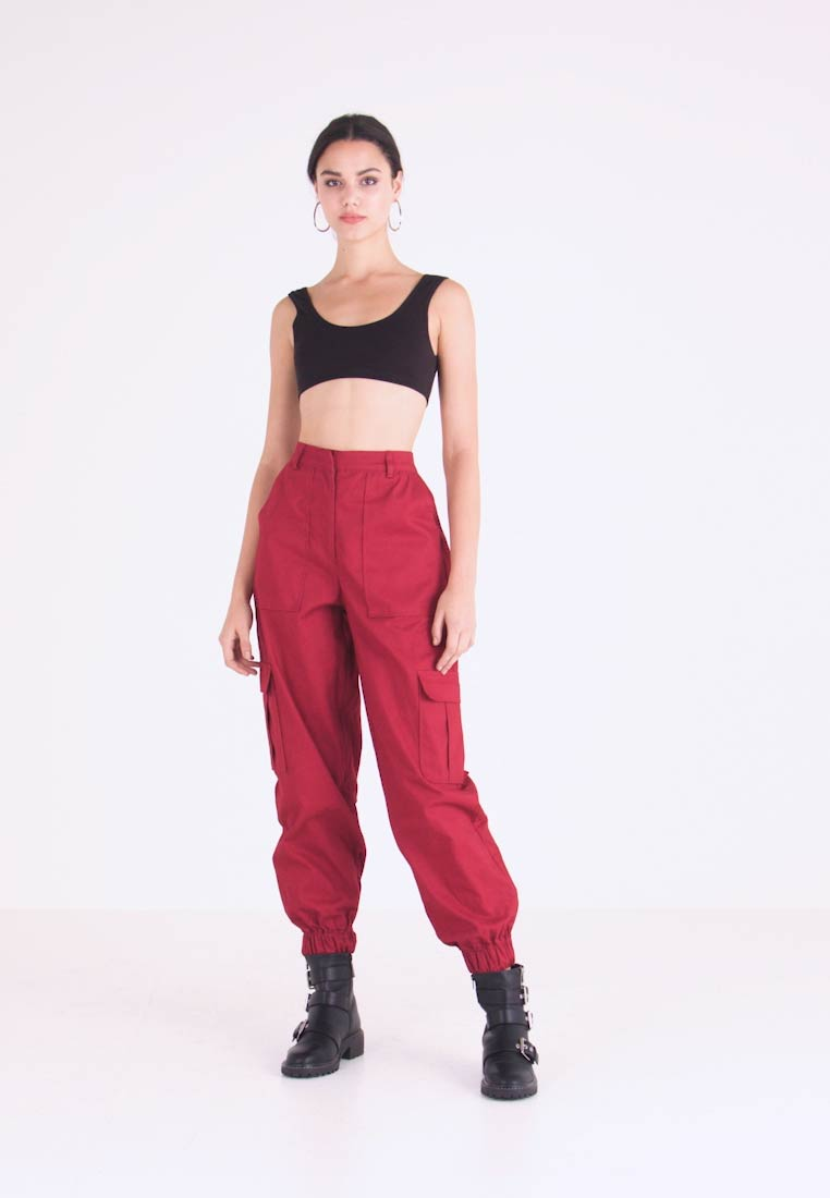 The Ragged Priest - TOPIC PANT - Bukse - maroon - 1