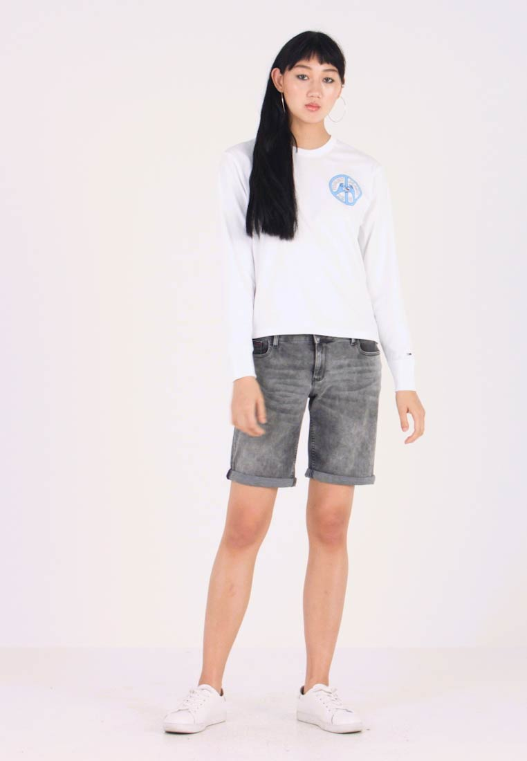 Tommy Jeans - PEACE AND LOVE LONGSLEEVE - Long sleeved top - classic white - 1