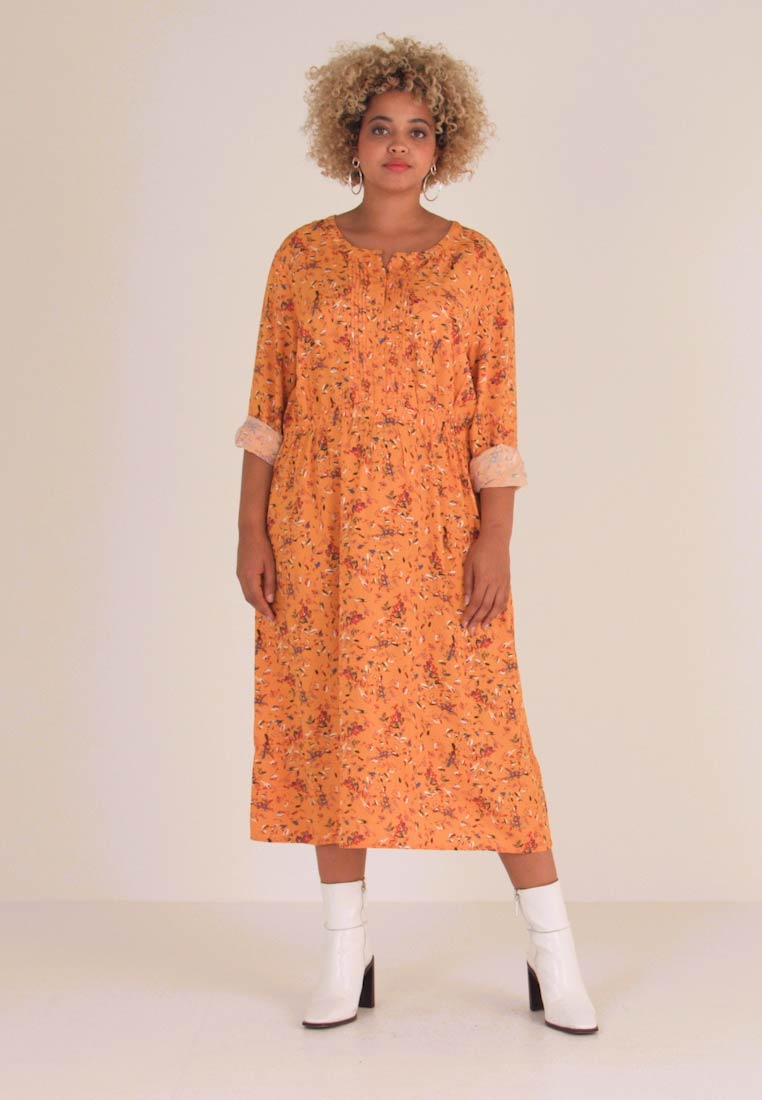 MY TRUE ME TOM TAILOR - WITH PINTUCKS - Day dress - yellow - 1