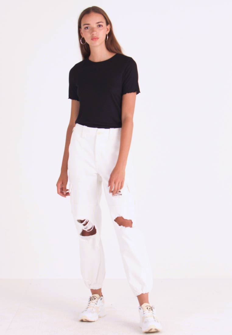 Topshop - REMI UTILITY - Jeans Relaxed Fit - off white - 1