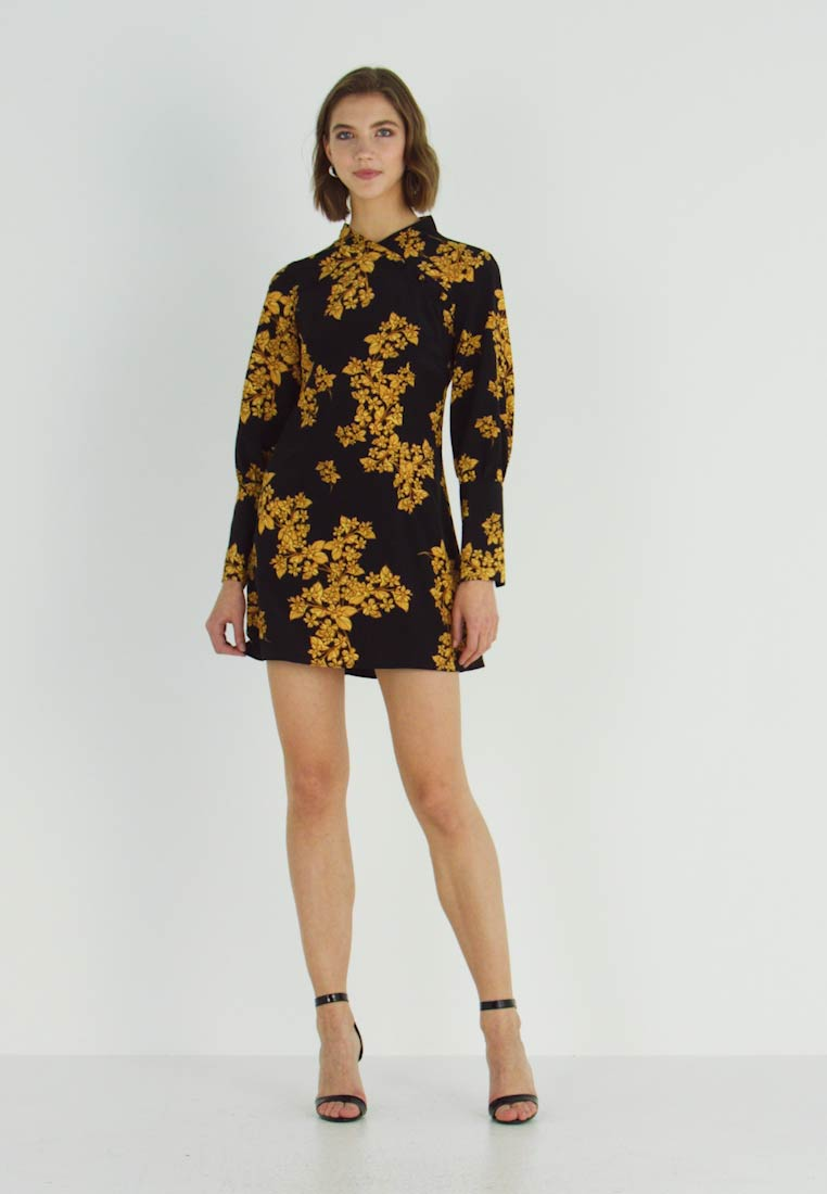 Topshop - ORIENTAL BLOOM - Robe d'été - black - 1