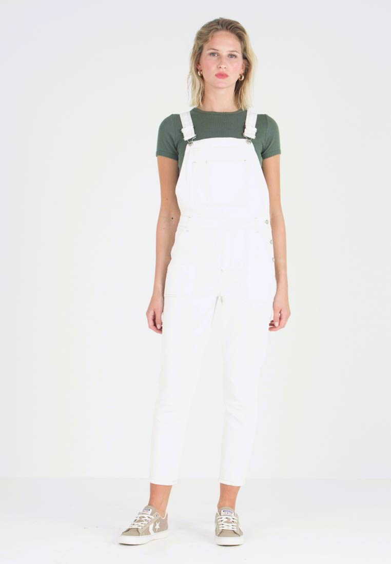 Topshop - DUNG - Dungarees - white - 1