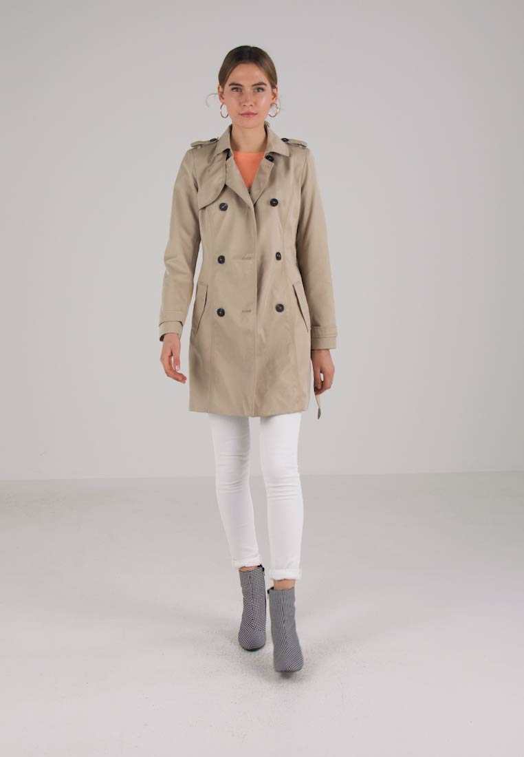 Vila - VITHREE LONG - Trenchcoat - soft camel - 1