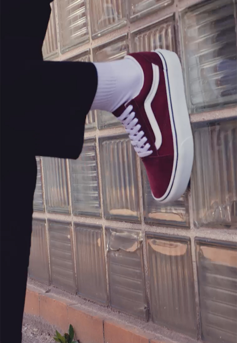 Vans - OLD SKOOL PLATFORM - Sneakers basse - port royale/true white - 1