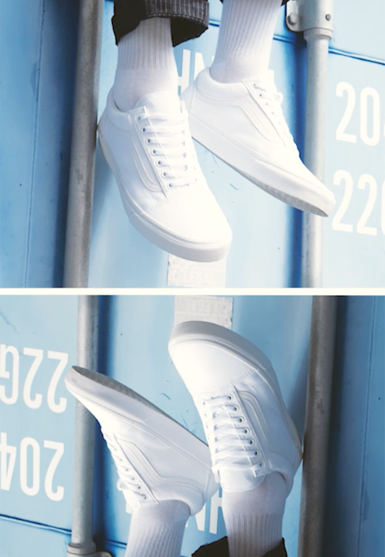 Vans - OLD SKOOL - Skatesko - true white - 1