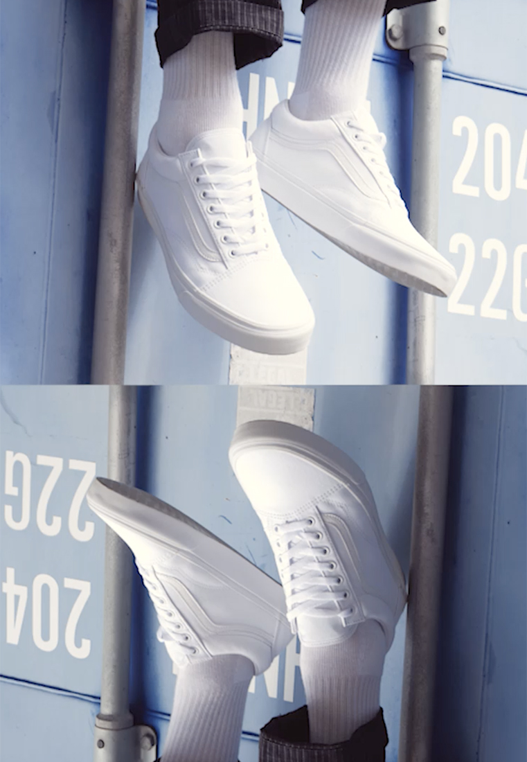 Vans - OLD SKOOL - Skateschoenen - true white - 1