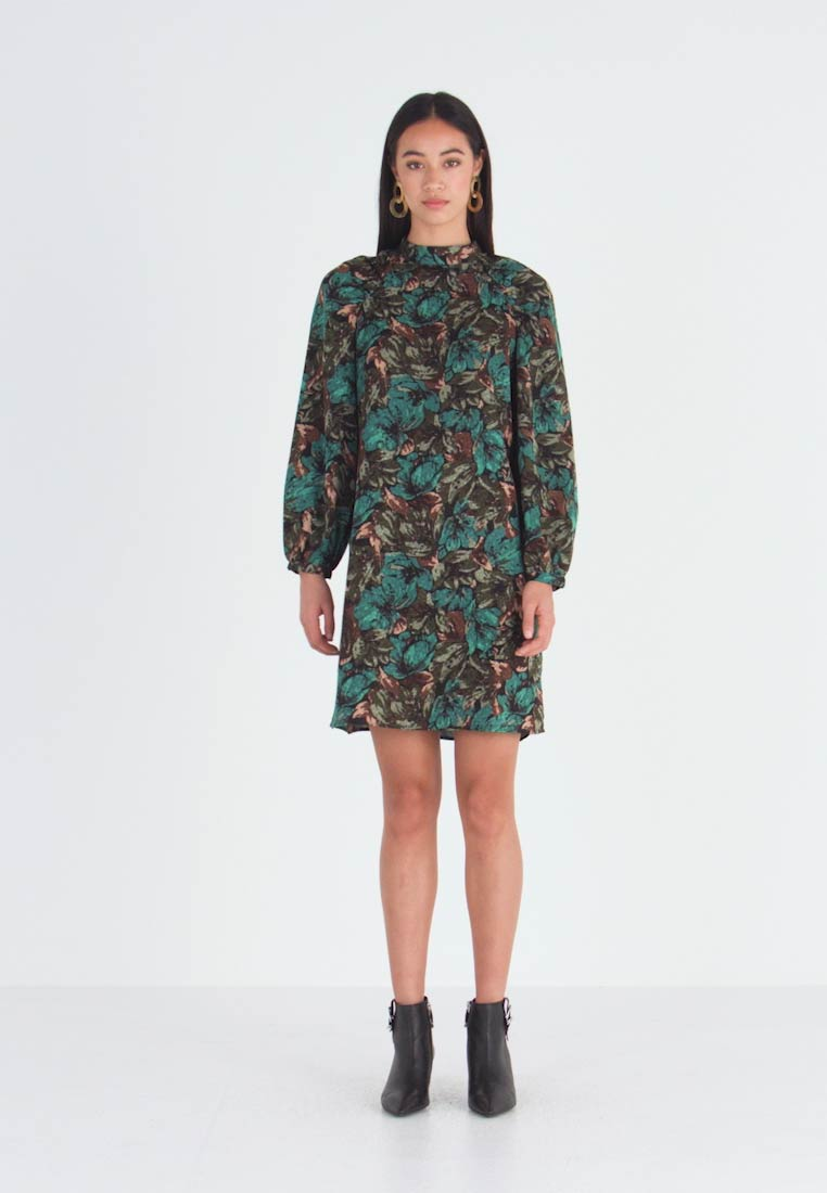 Vero Moda - VMLIANA  DRESS - Sukienka letnia - black/green - 1