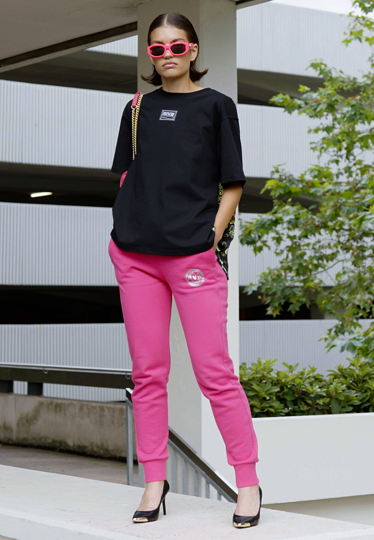Versace Jeans Couture - PANTS - Tracksuit bottoms - pink - 1