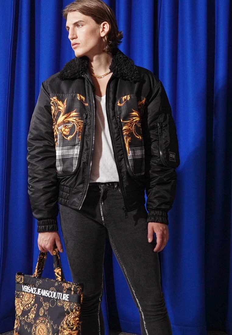 Versace Jeans Couture - DIAGONAL  - Bomber Jacket - nero - 1