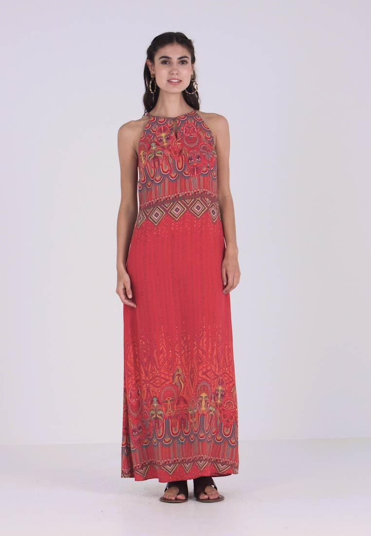 Ivko - LONG DRESS WITH PRINT - Vestito lungo - red - 1