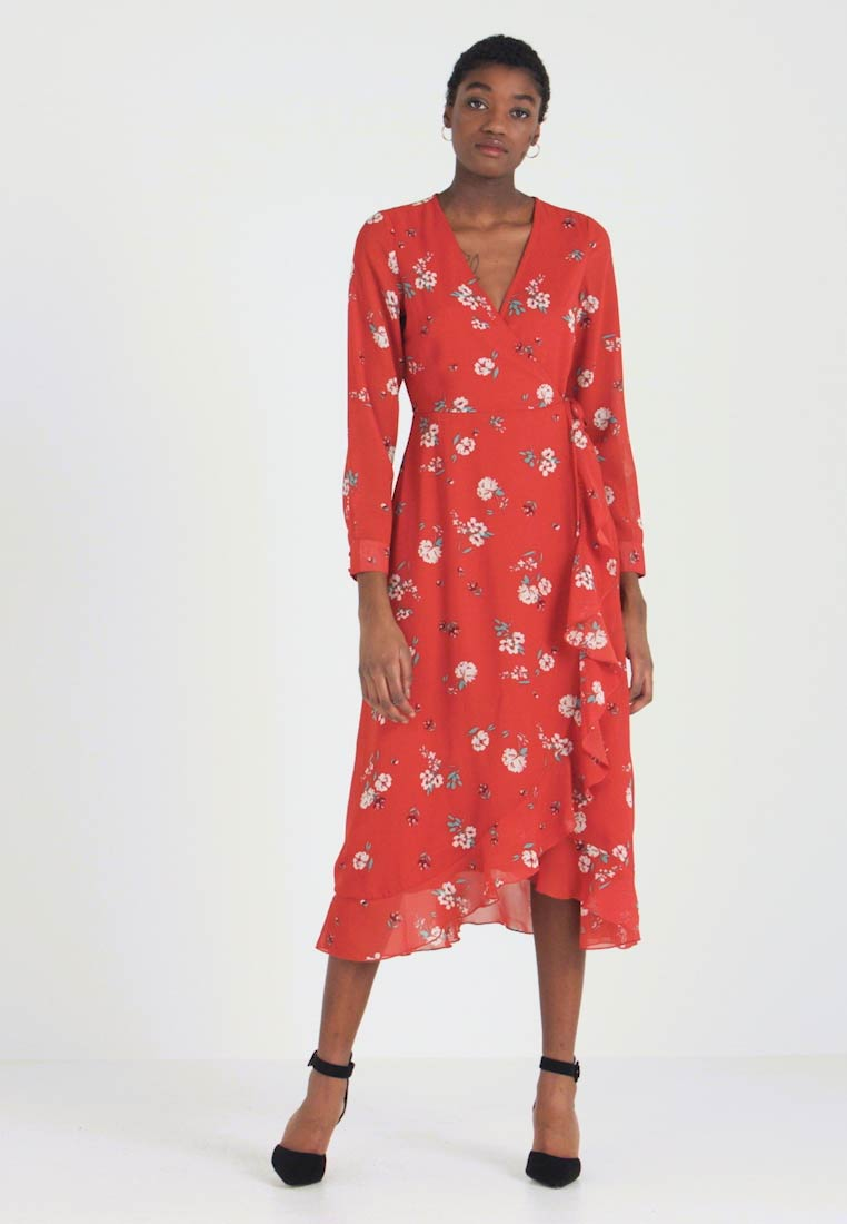 Wednesday's Girl - WRAP MIDAXI - Vestito estivo - delphine floral rust - 1