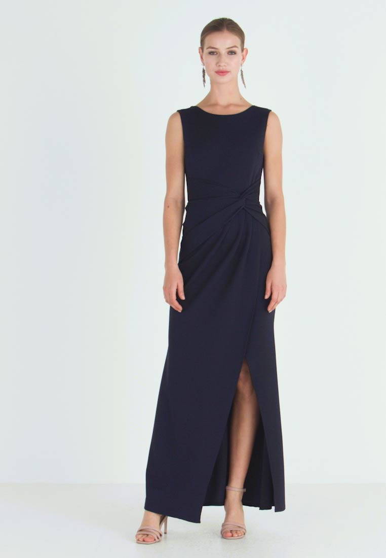 WAL G. - KNOT MAXI DRESS WITH SPLIT - Robe de cocktail - navy - 1