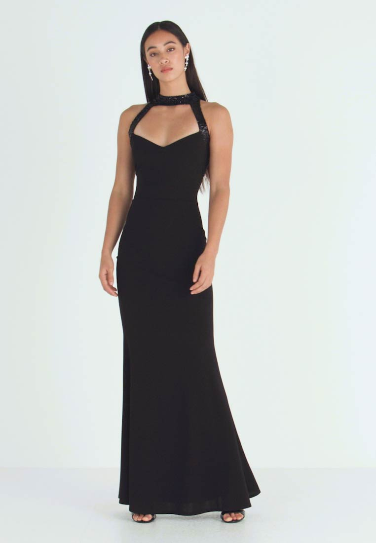 WAL G. - MAXI DRESS HELCTOR NECK OPEN BACK - Robe de cocktail - black - 1