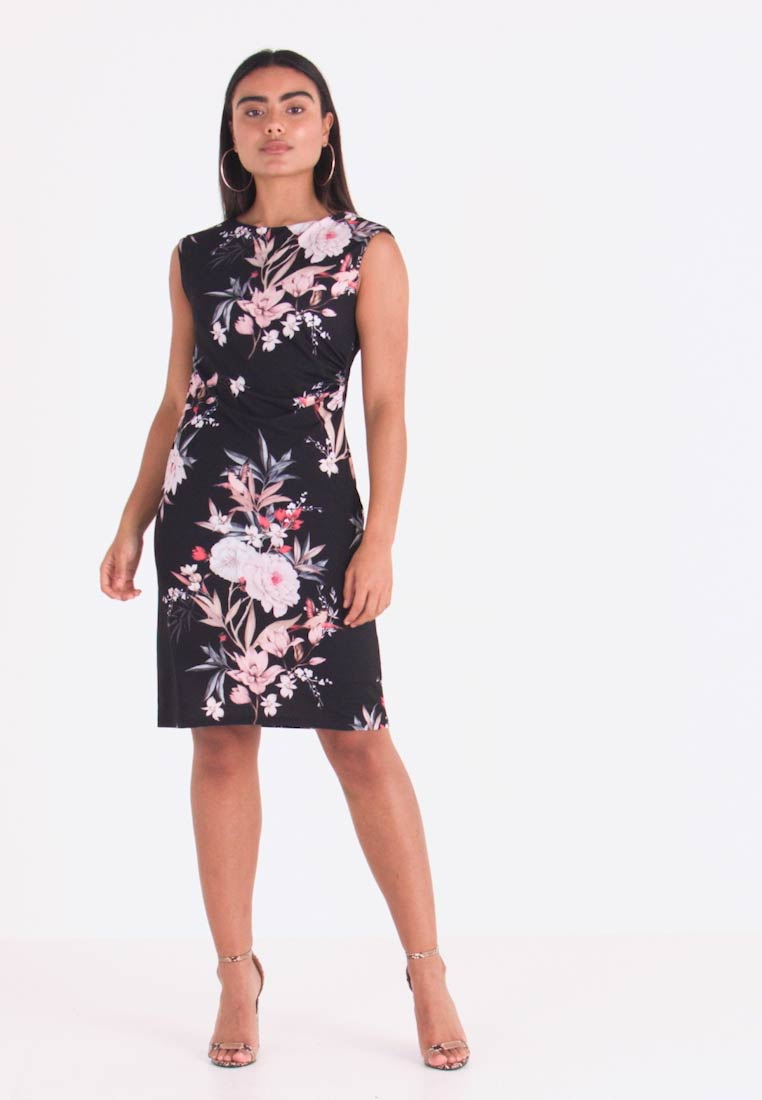 Wallis Petite - EVENT BIRD RUCHE SIDE DRESS BLACK - Sukienka z dżerseju - black - 1