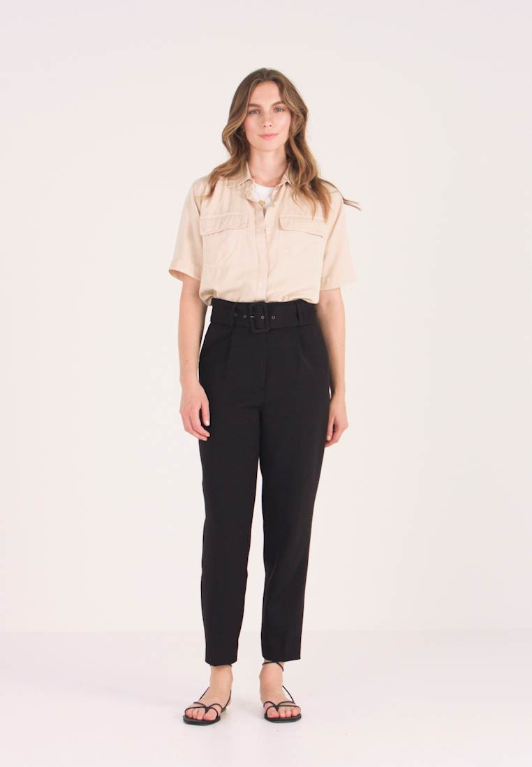 YAS - YASVICCY WIDE PANT - Trousers - black - 1