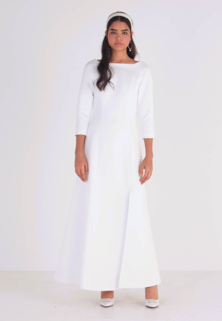 YAS - YASDORIA MAXI DRESS - Iltapuku - star white - 1