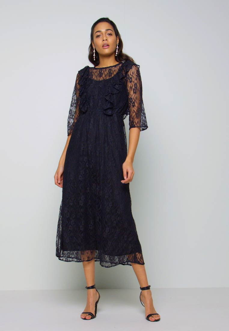 YAS - YASEMMA MAXI LACE DRESS  - Cocktail dress / Party dress - black - 1