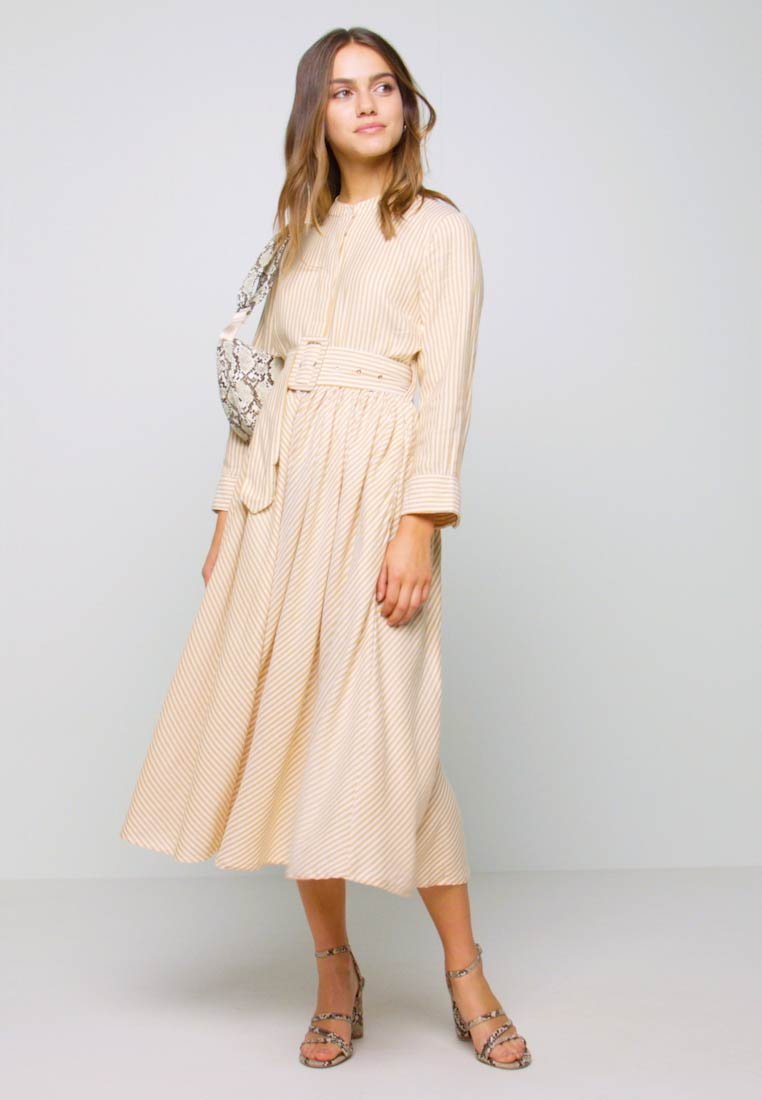 YAS Petite - YASEMBER SHIRT DRESS PETITE - Shirt dress - golden rod/star white - 1