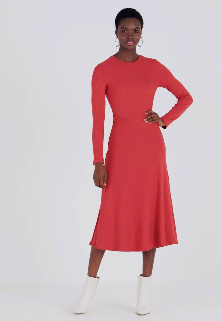 Zign - BASIC - Jersey dress - red - 1