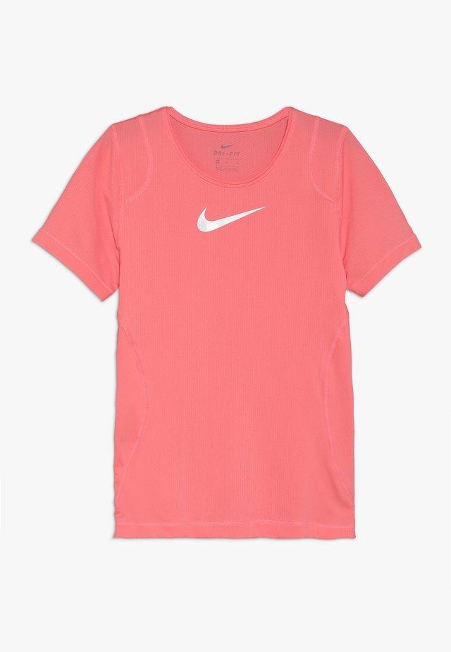 T-shirt - bas - pink gaze/white