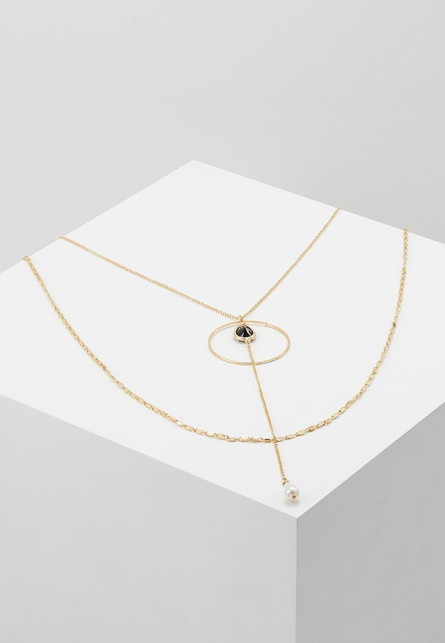 MULTI LAYER DROP NECKLACE - Collier - gold-coloured