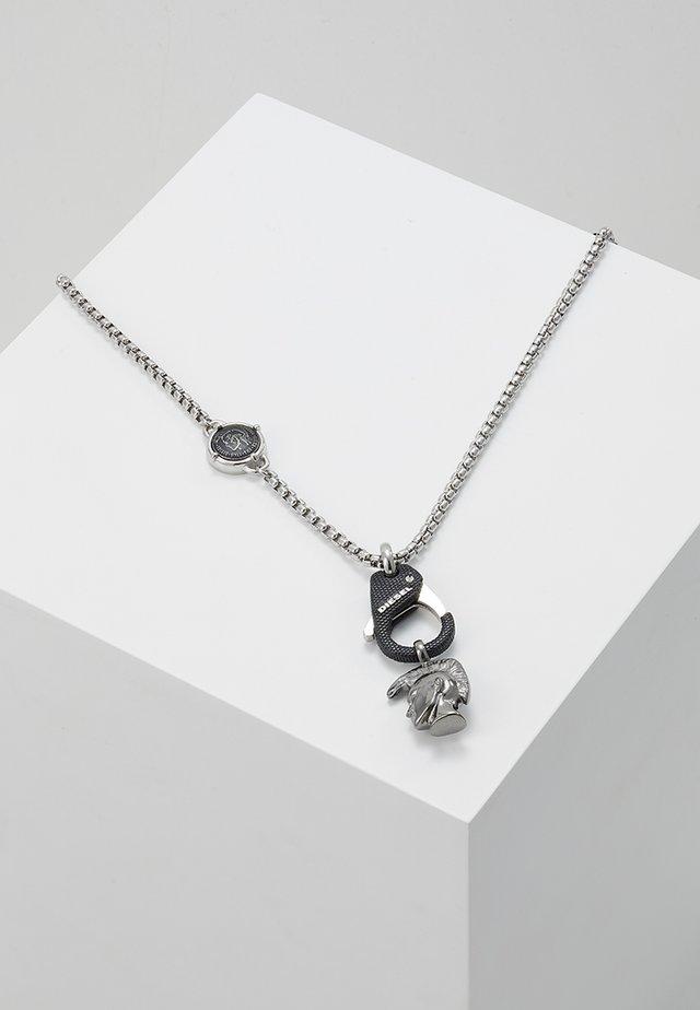 SINGLE PENDANT - Collier - black/silver-coloured