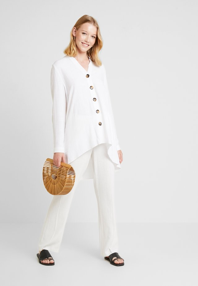 BUTTON SHIRT - Blouse - ivory