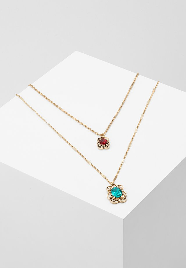 GEM DROP NECKLACE 2 PACK - Necklace - gold-coloured