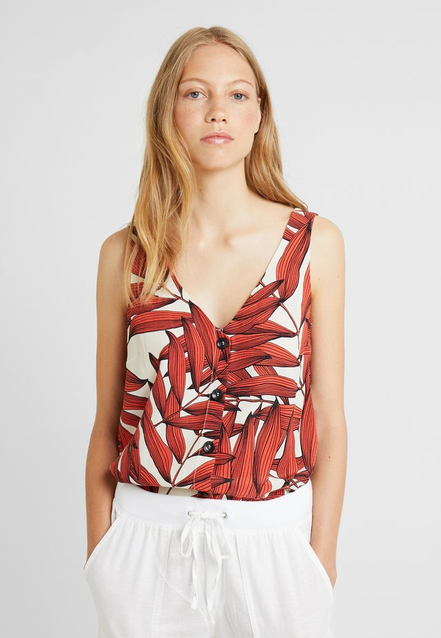 FERN LEAF CAMI - Blouse - brick