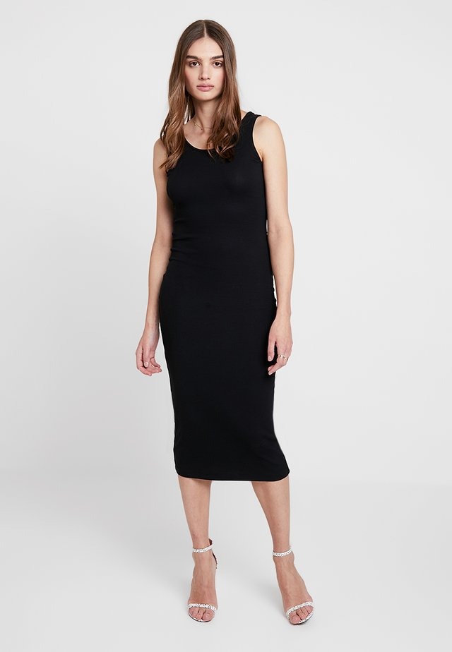 PLAIN LESS MIDI - Robe longue - black