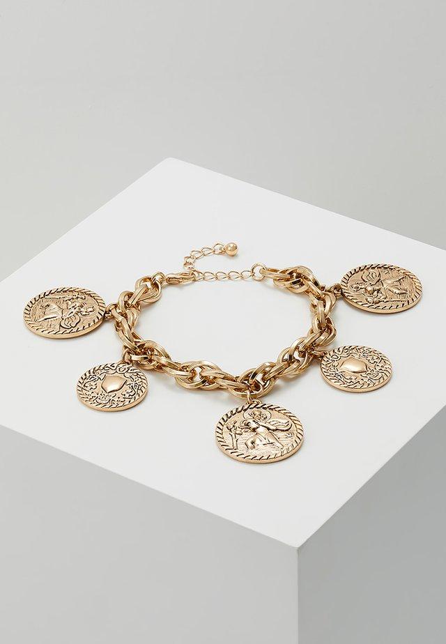 CHARM BRACELET - Bransoletka - antique gold-coloured