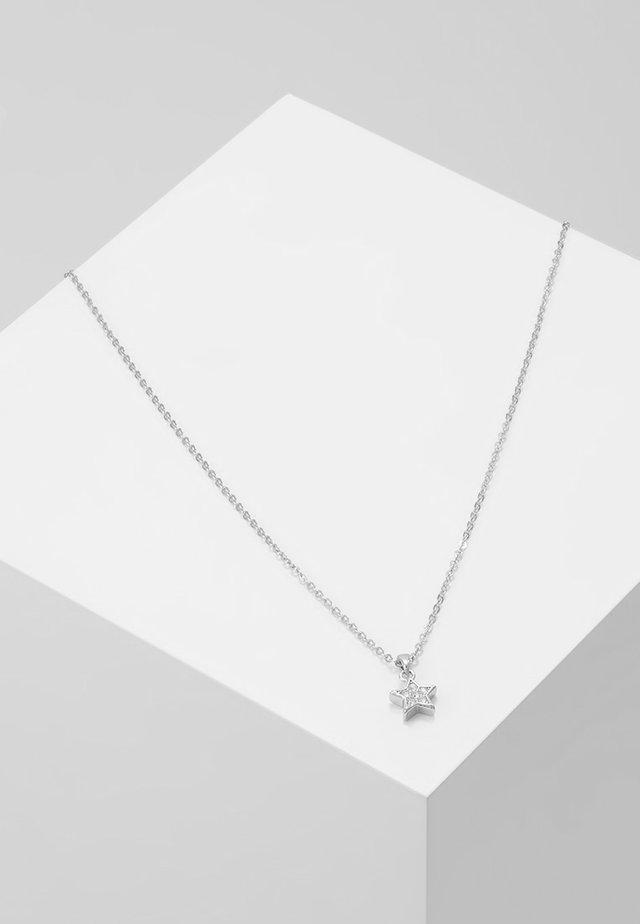 SAIGI PAVÉ SHOOTING STAR PENDANT - Necklace - silver-coloured