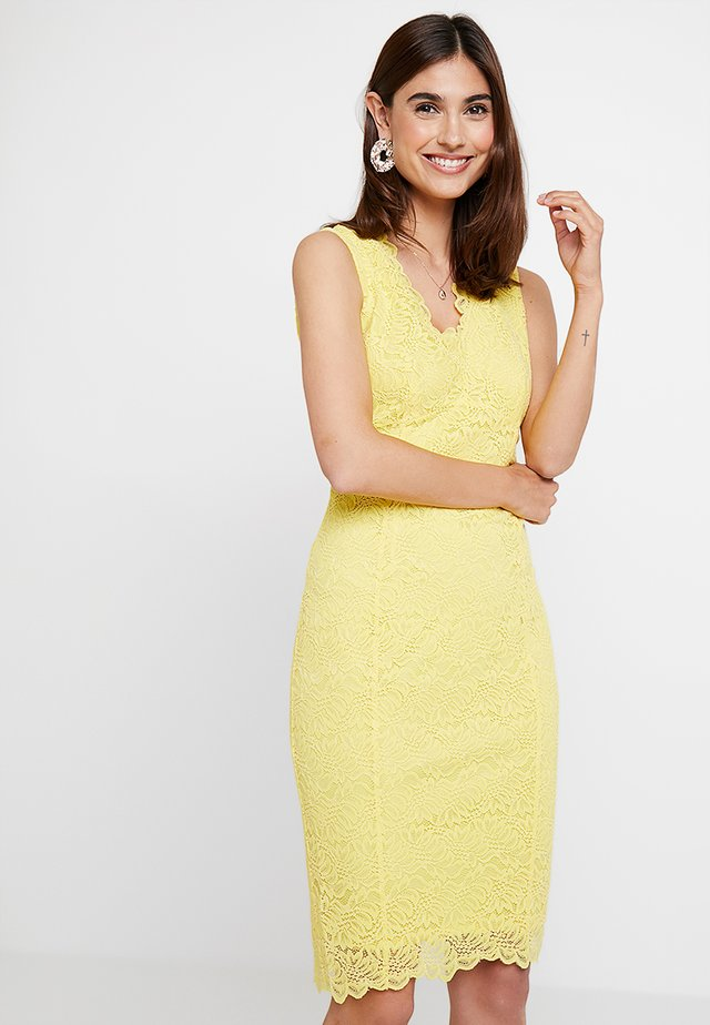 SCALLOP V NECK SHIFT - Cocktail dress / Party dress - yellow