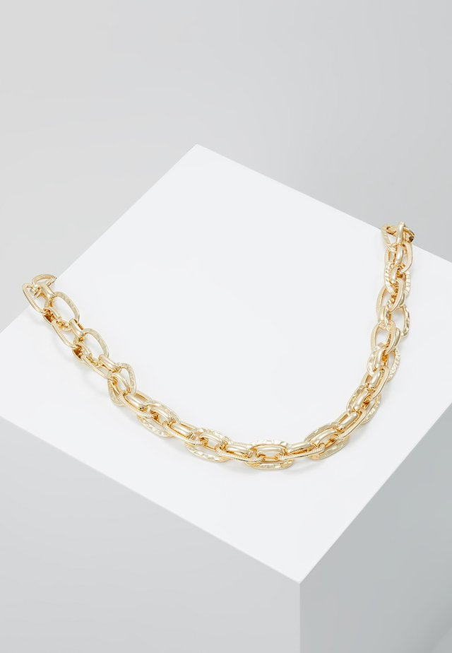 TEXTURED LINK CHAIN NECKLACE - Kaulakoru - gold-coloured
