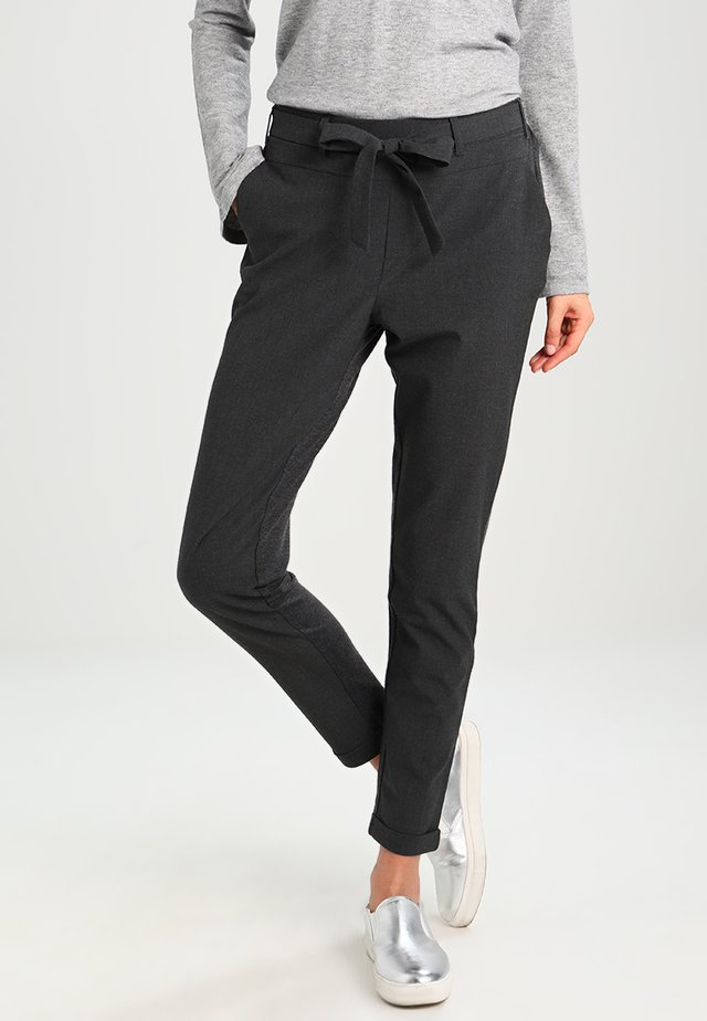 JILLIAN BELT PANT - Pantaloni - dark grey melange