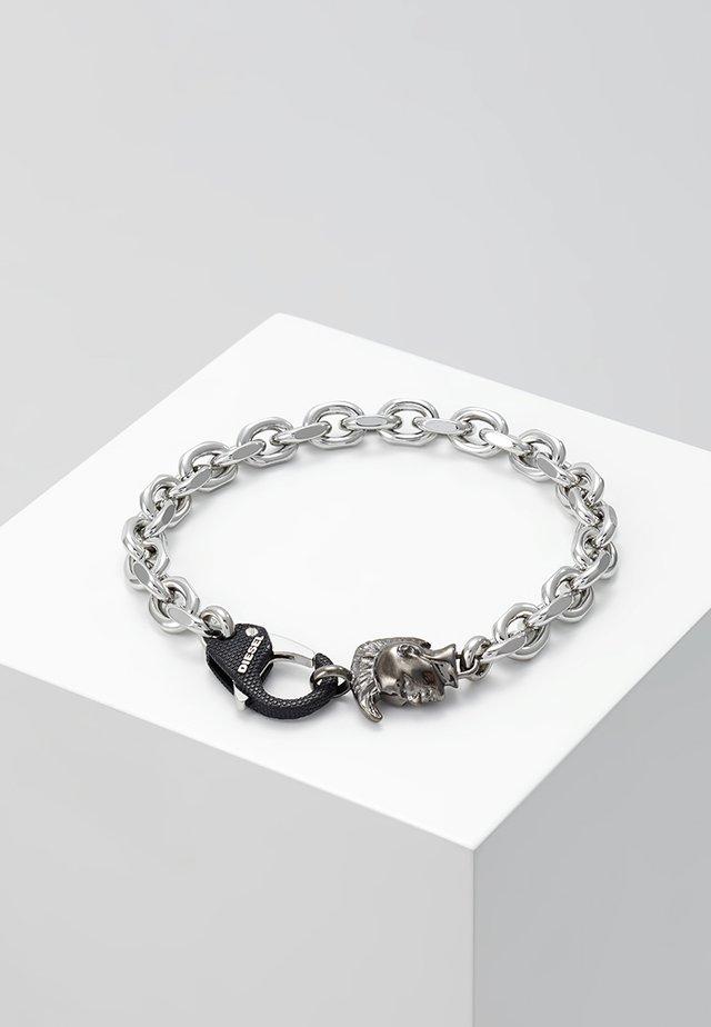 STEEL - Armband - grey/black/silver-coloured