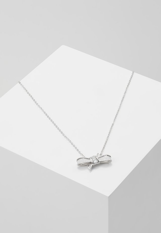 DAMEKA RIBBON BOW PENDANT - Collier - silver-coloured