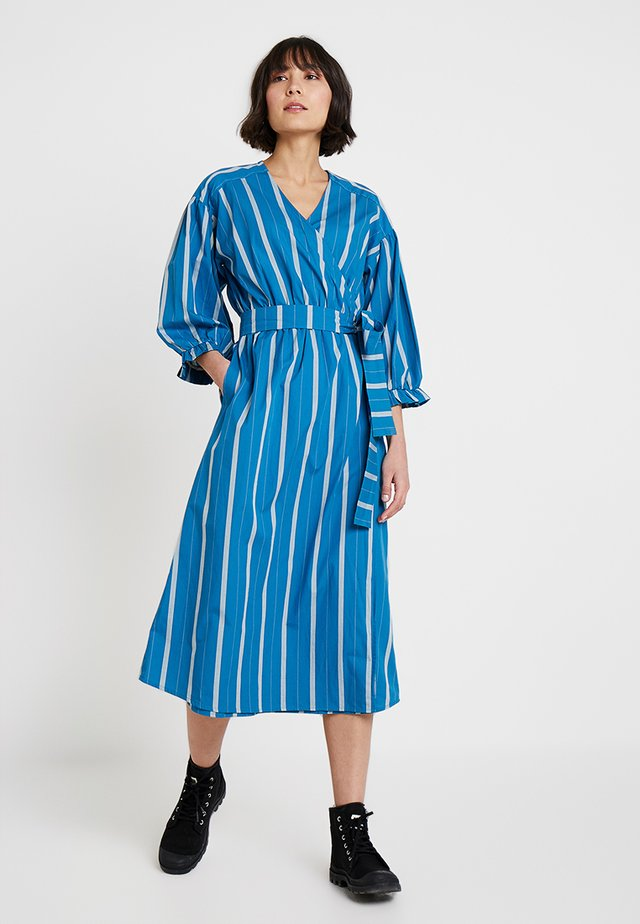 STRIPED - Day dress - art blue