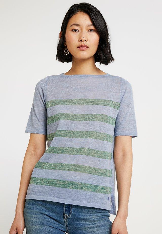 RUNDHALS - T-shirt con stampa - clear blue