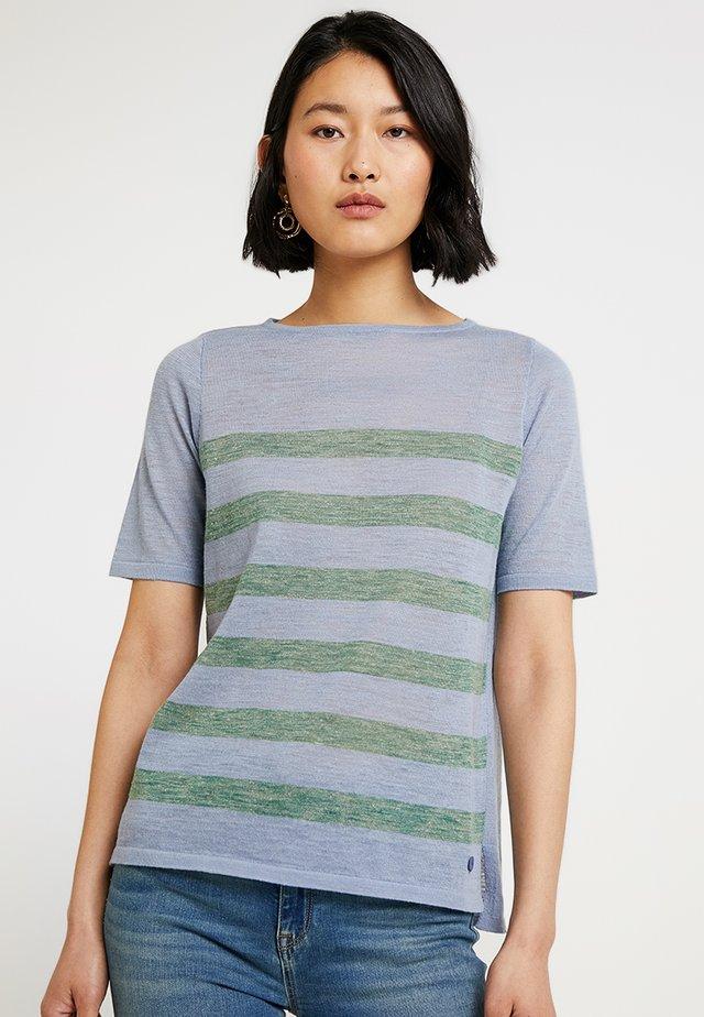 RUNDHALS - Print T-shirt - clear blue